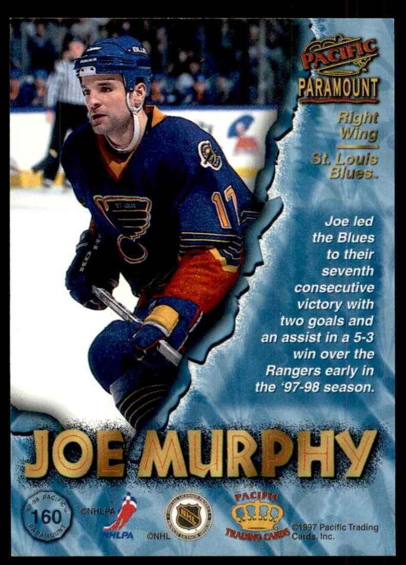 1997-98 Paramount Copper Joe Murphy #160 card back image