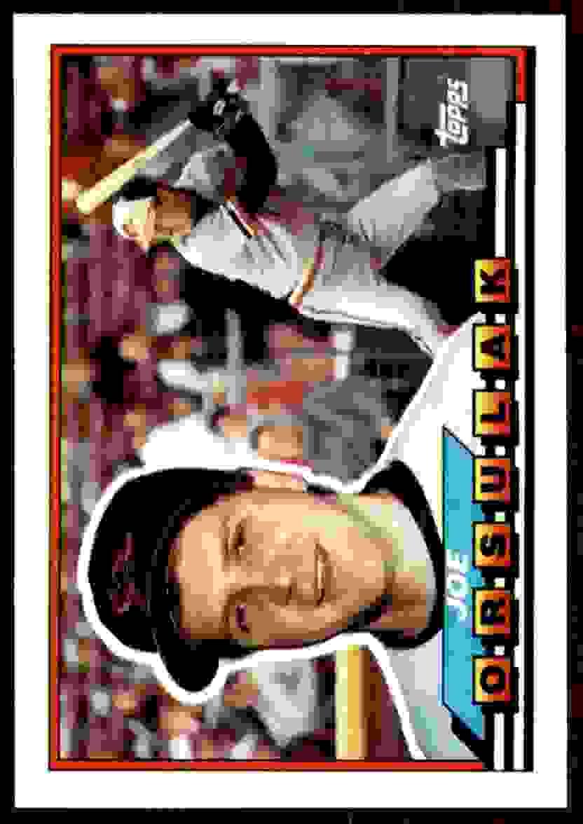 1989 Topps Big Joe Orsulak #181 card front image