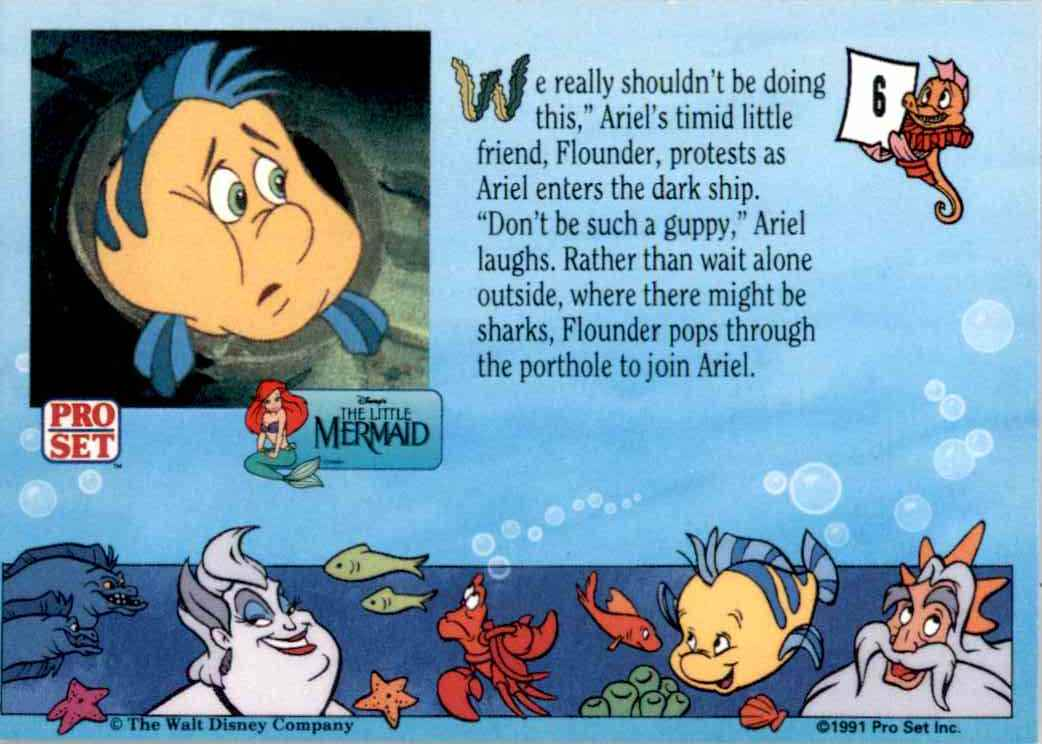 1991 Little Mermaid We Really Shouldn't Be Doing This #6 card back image
