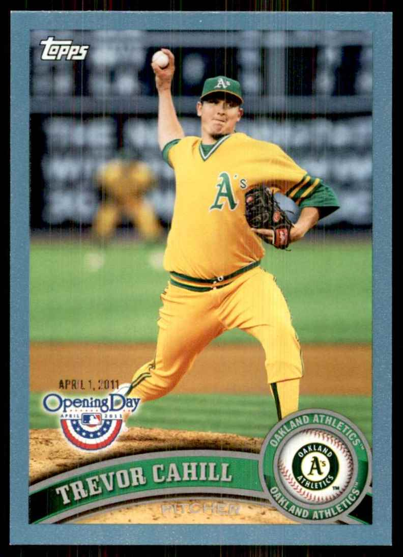 2011 Topps Opening Day Blue Trevor Cahill #193 card front image