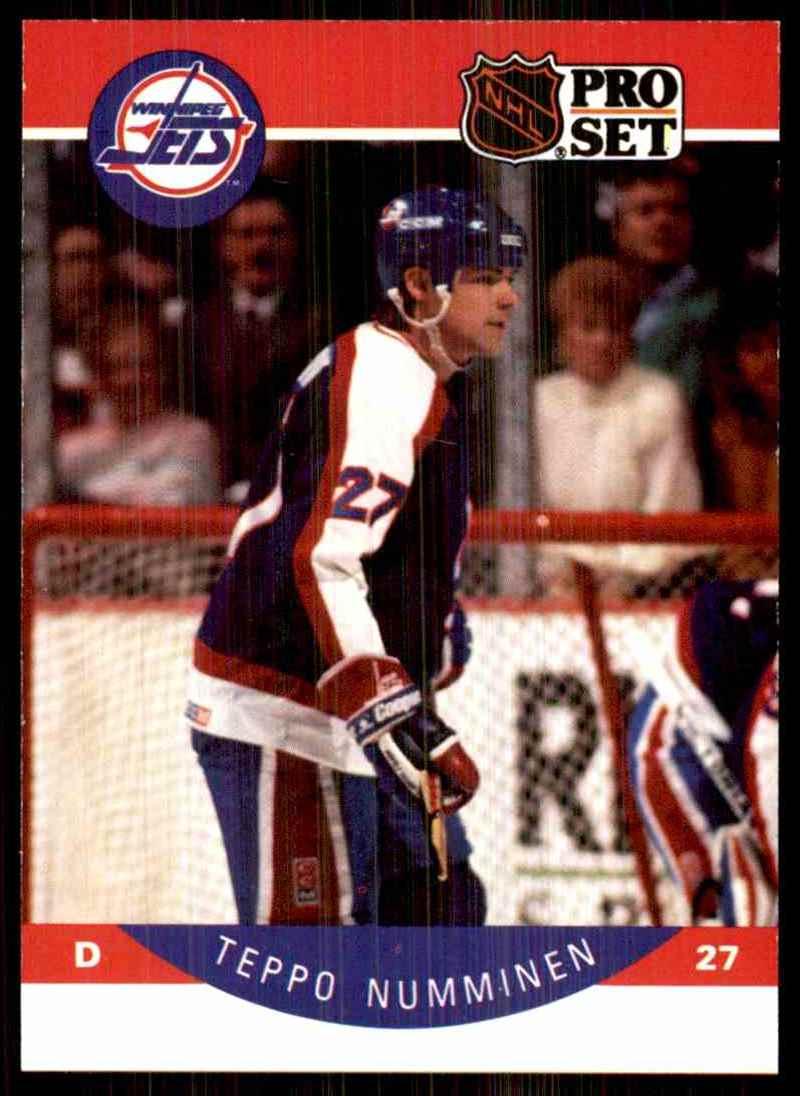 1990-91 Pro Set Teppo Numminen RC #334 card front image