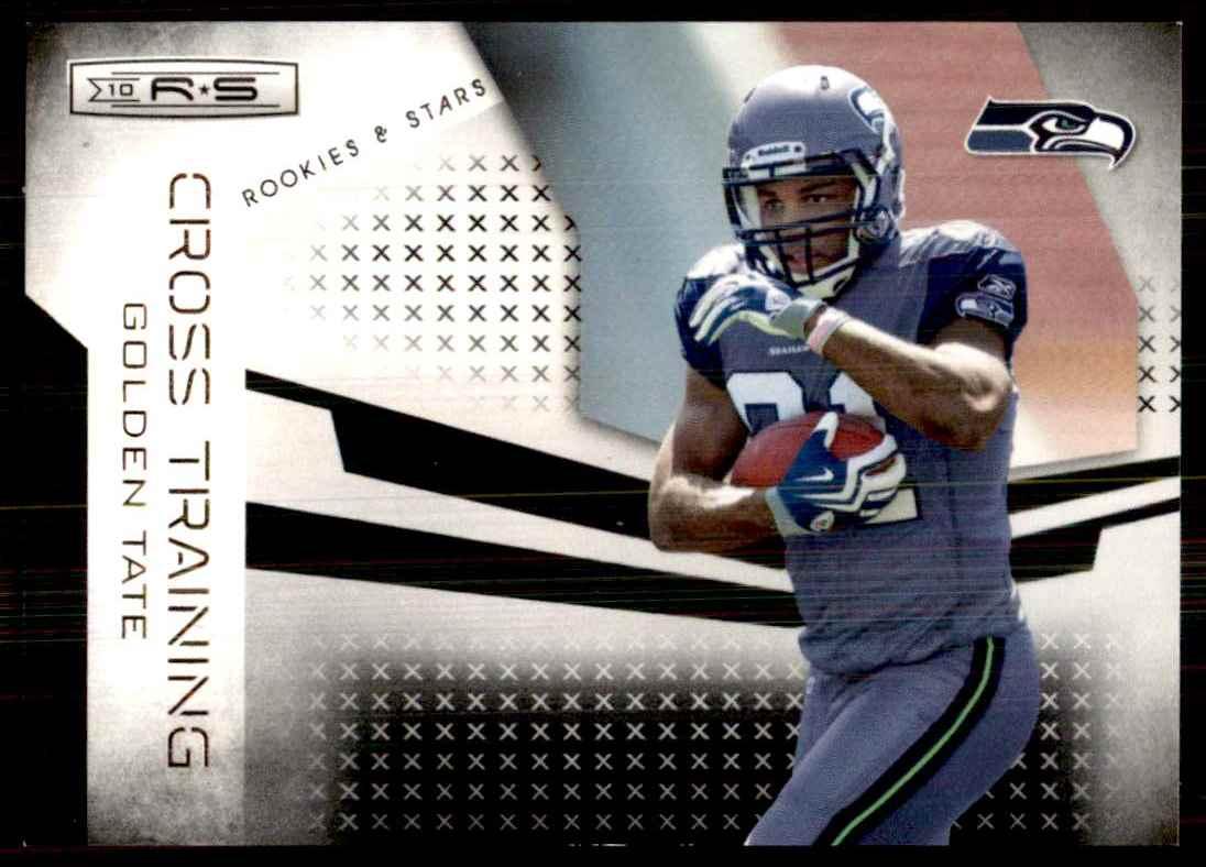 2010 Rookies & Stars Crosstraining Black Golden Tate #16 card front image