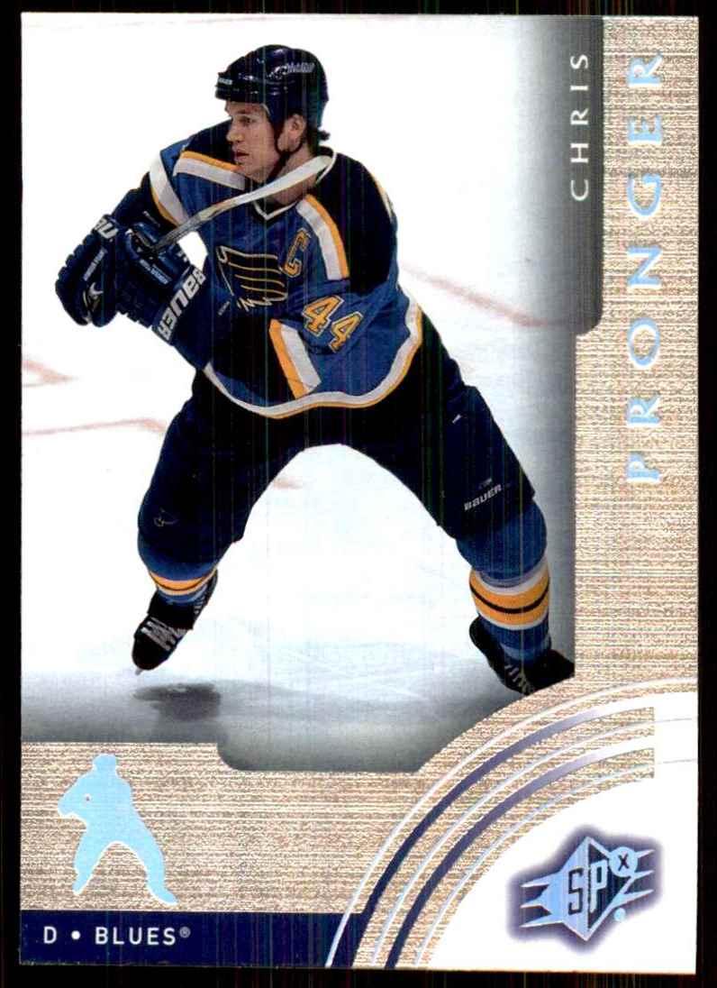 2001-02 SPx Chris Pronger #58 card front image