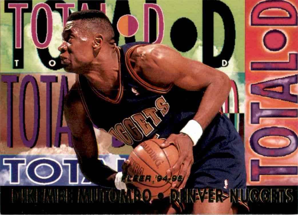 1994-95 Fleer Total D Dikembe Mutombo #3 card front image