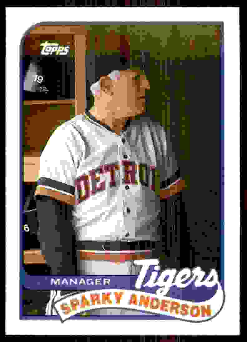 1989 Topps Sparky Anderson Mg/Uer 553 Salazer #193 card front image