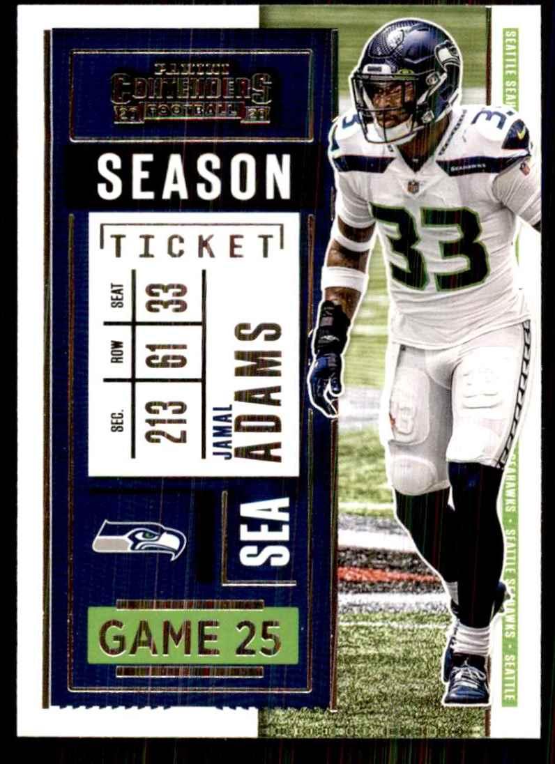 2020 Panini Contenders Jamal Adams #34 card front image