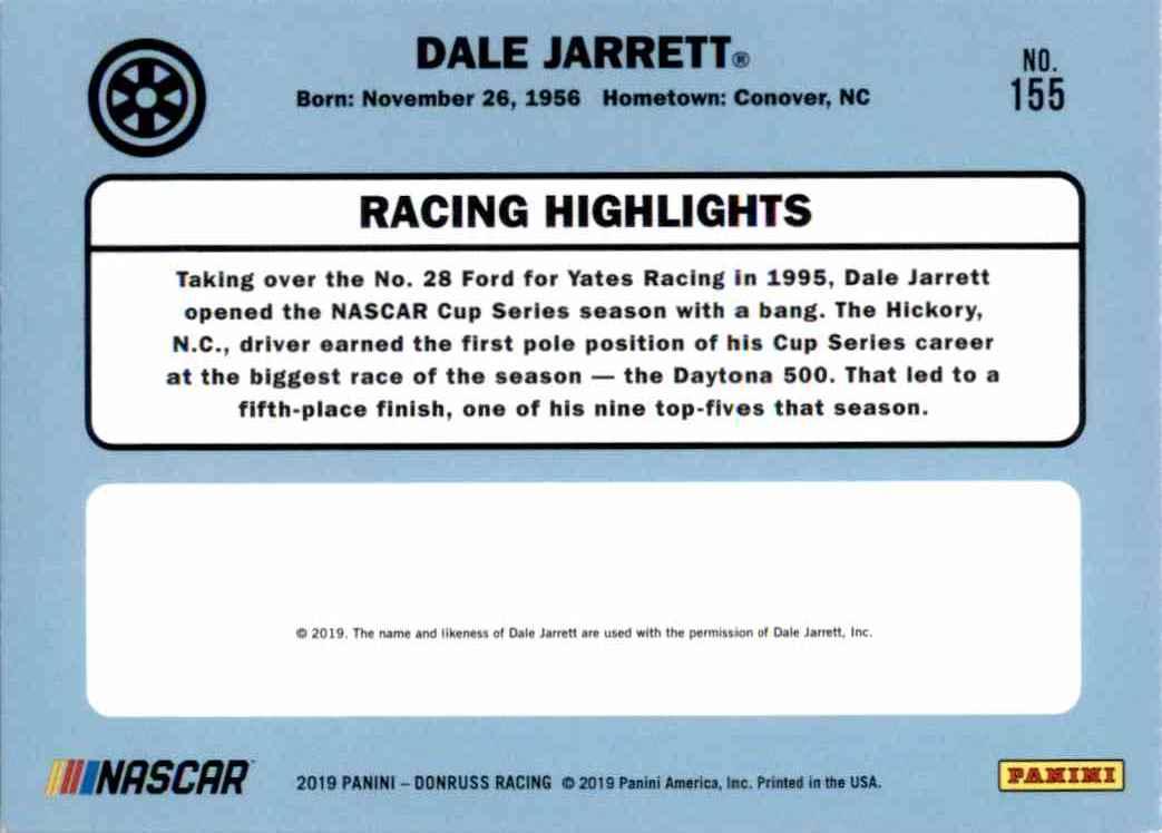 2019 Donruss Silver Dale Jarrett Retro #155 card back image