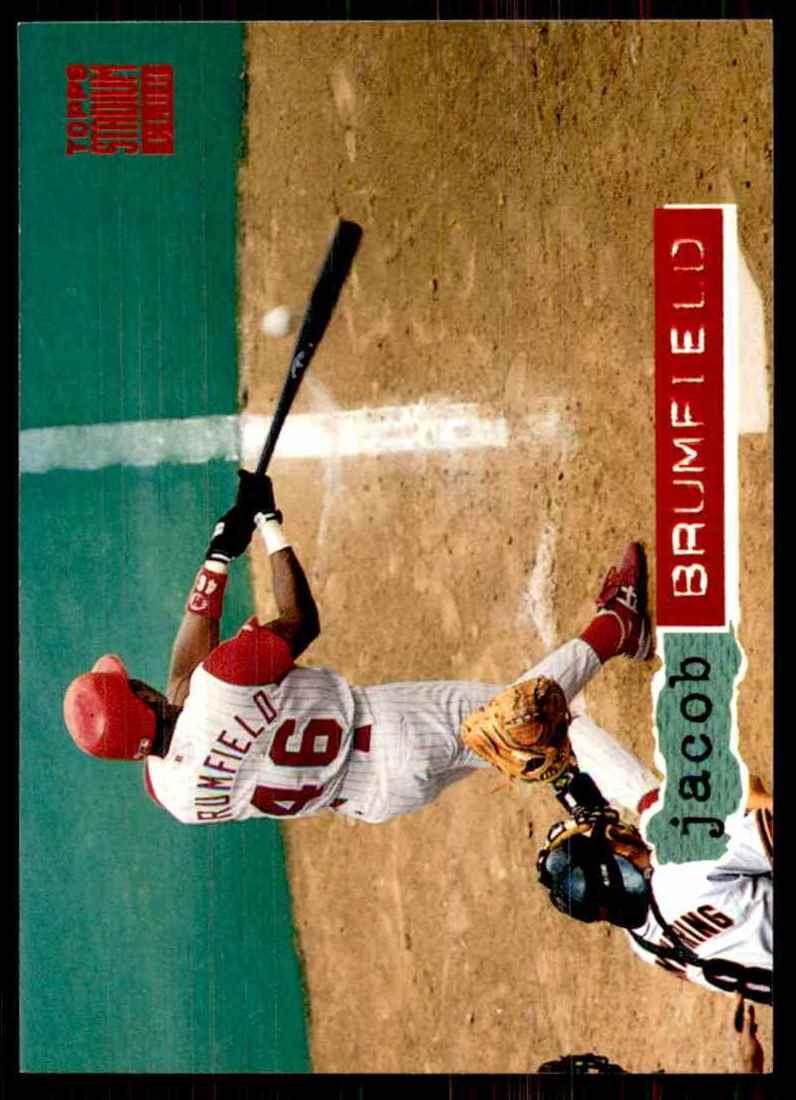 1994 Stadium Club Jacob Brumfield #166 card front image