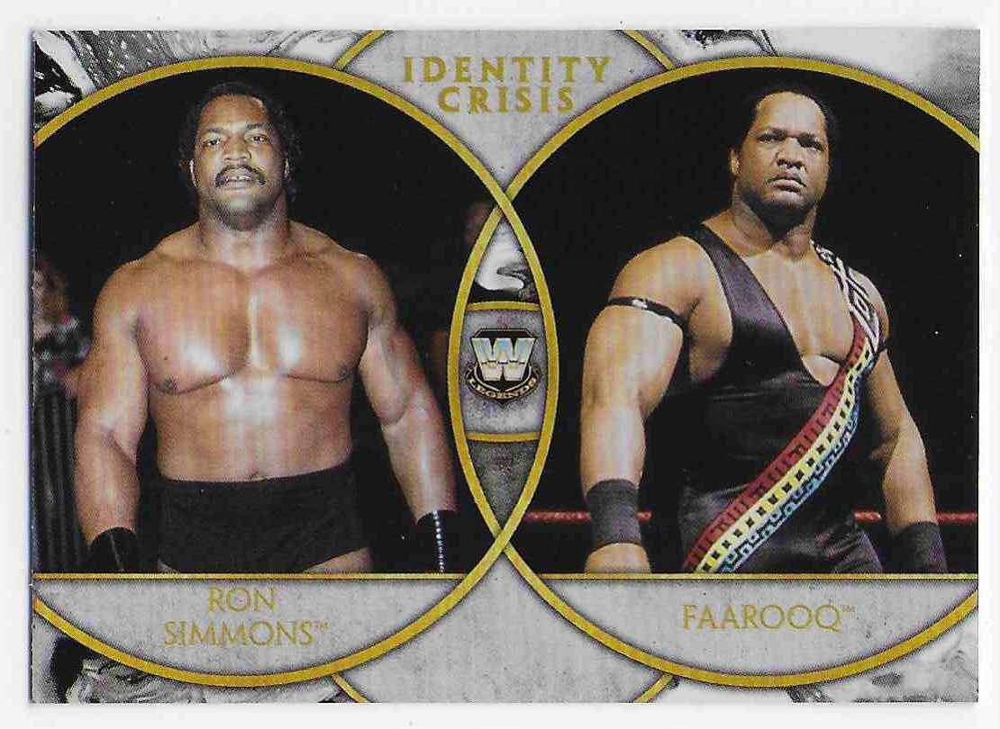 2018 Legends Of Wwe Identity Crisis Ron Simmons & Faarooq #17 card front image
