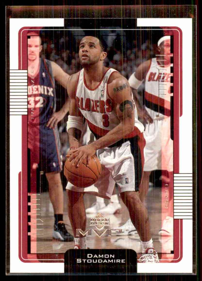 2001-02 Upper Deck MVP Damon Stoudamire #136 card front image