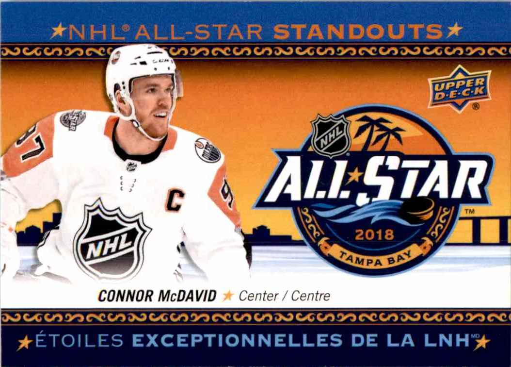 2018-19 Upper Deck Tim Hortons NHL All Star Standouts Connor McDavid #AS-1 card front image