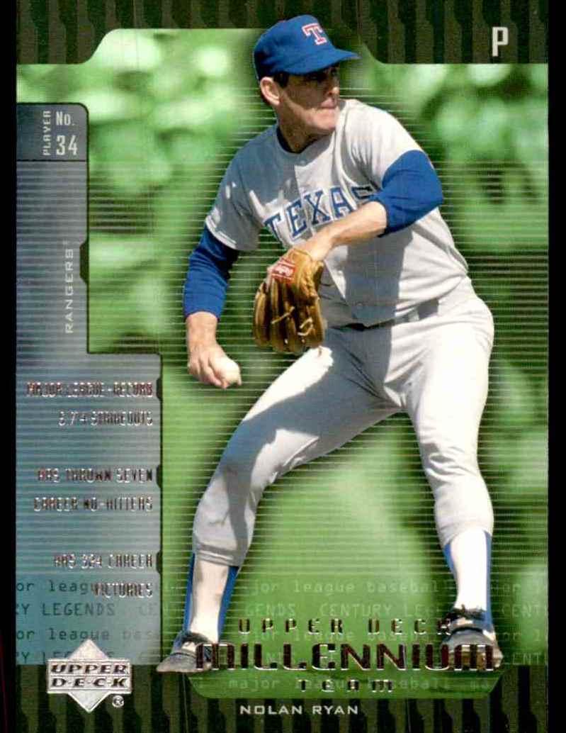2000 Upper Deck Legends Millennium Team Nolan Ryan #UD9 card front image