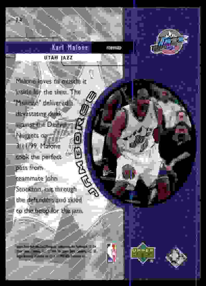 1999-00 Upper Deck Jamboree Karl Malone #J2 card back image