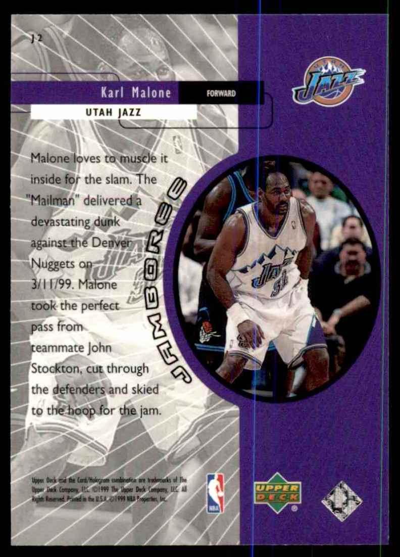 1999-00 Upper Deck Jamboree Karl Malone #J2 card back image