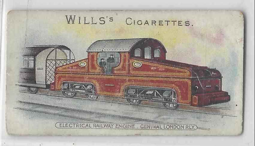 1901 Will's Locomotives & Rolling Stock Electrical Railway Engine #NON card front image