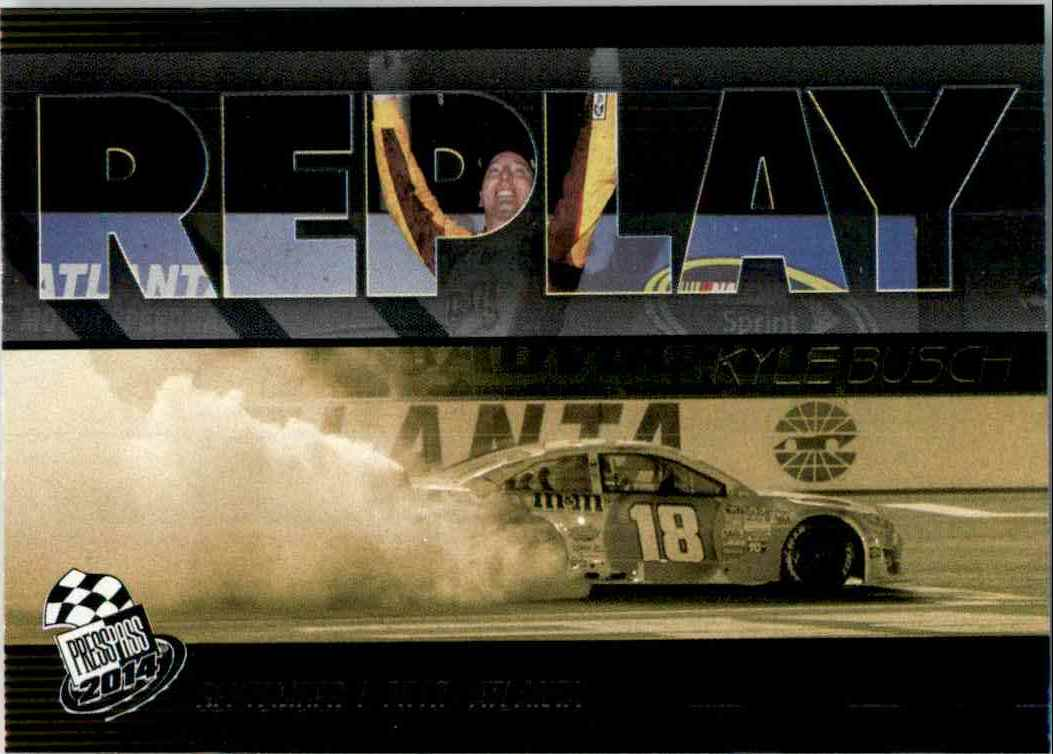 2014 Press Pass Replay Kyle Busch #23 card front image