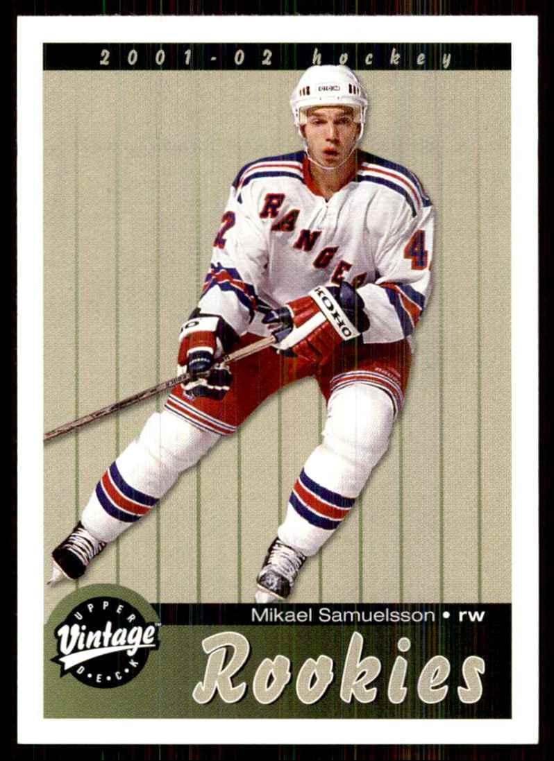 2001-02 Upper Deck Vintage Mikael Samuelsson RC #288 card front image