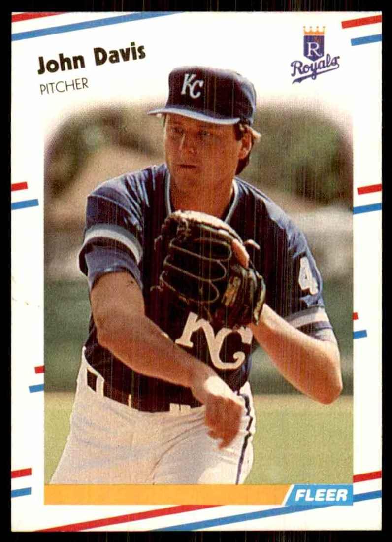 1988 Fleer John Davis #255 card front image