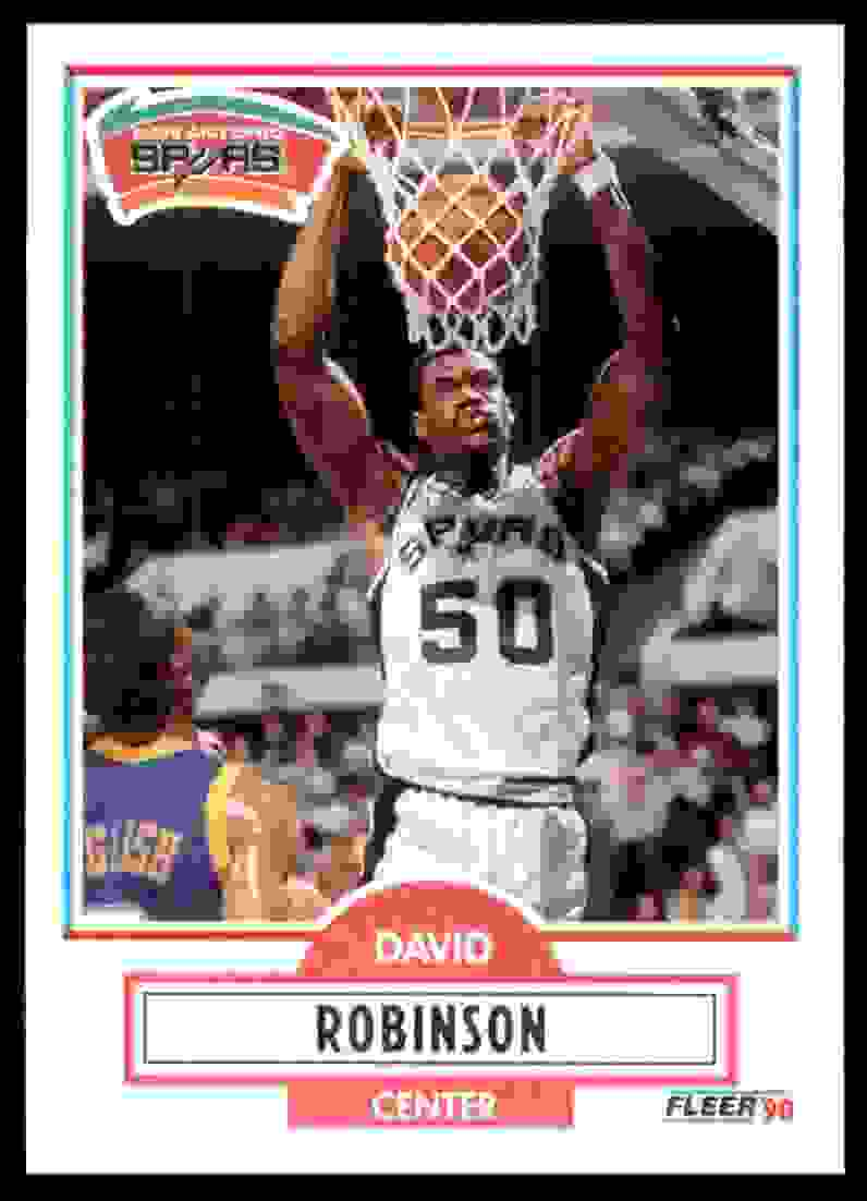 1990-91 Fleer David Robinson #172 card front image