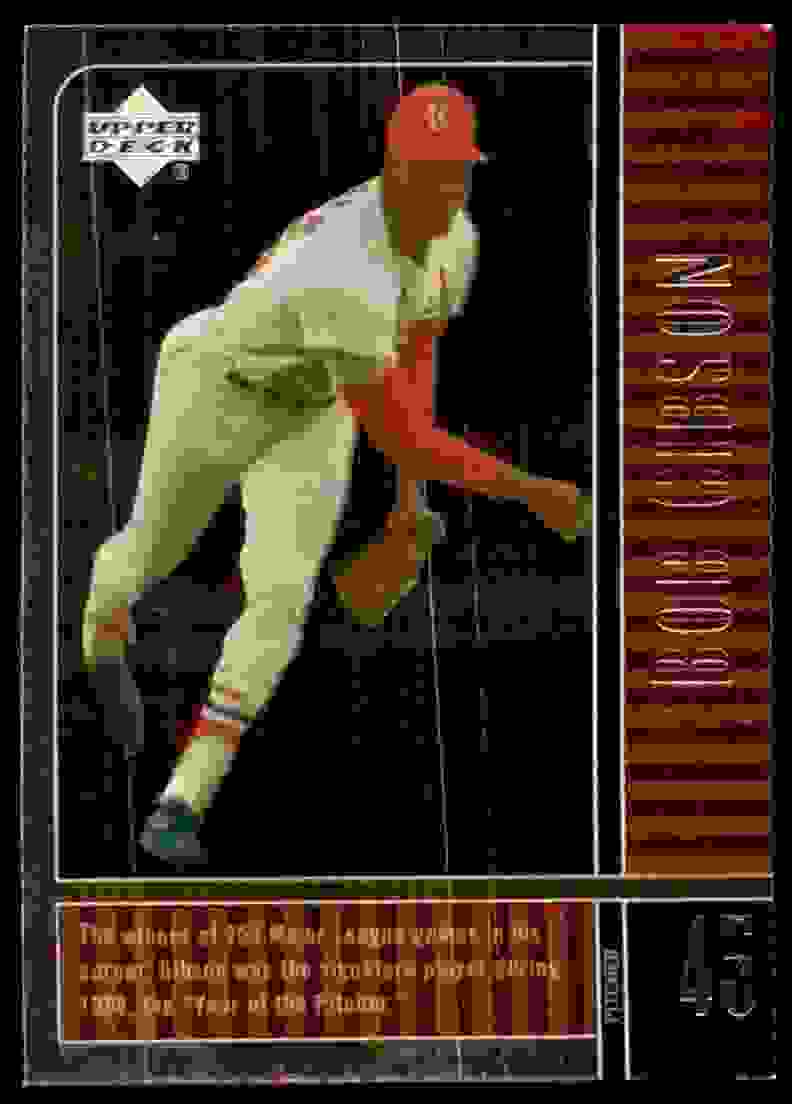 2000 Upper Deck Legends Bob Gibson #22 card front image