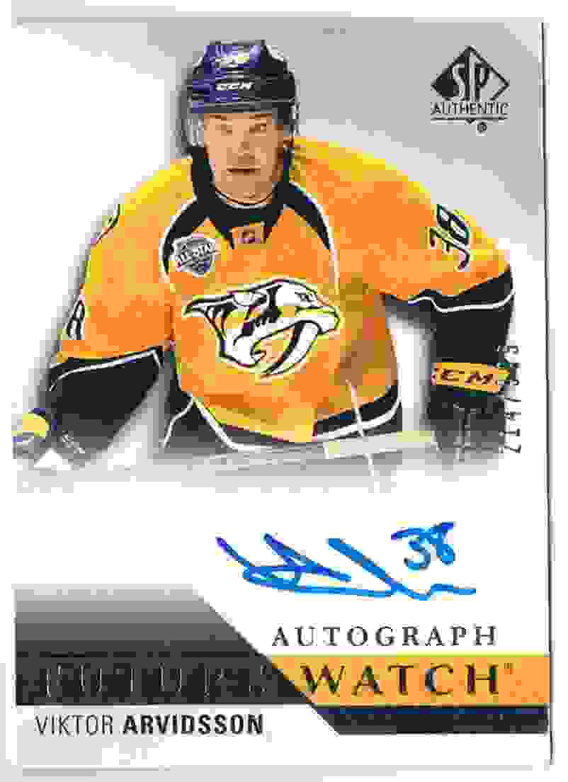 2015-16 SP Authentic Future Watch Victor Arvidsson #247 card front image
