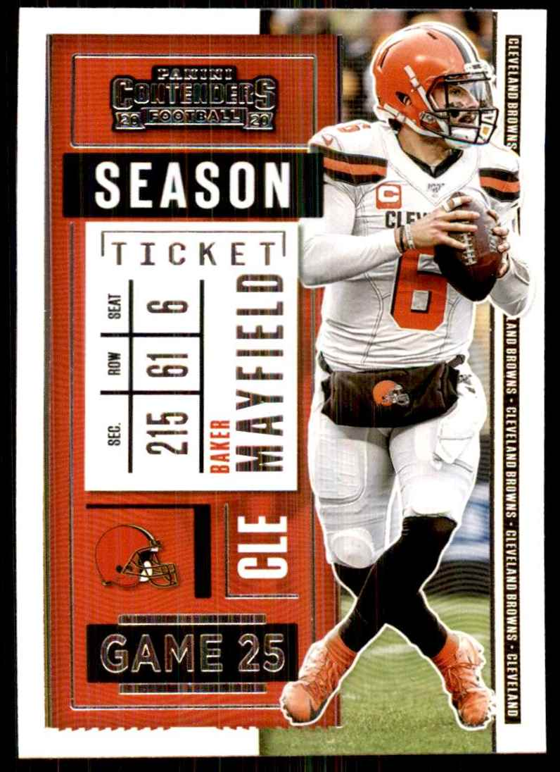 2020 Panini Contenders Baker Mayfield #77 card front image