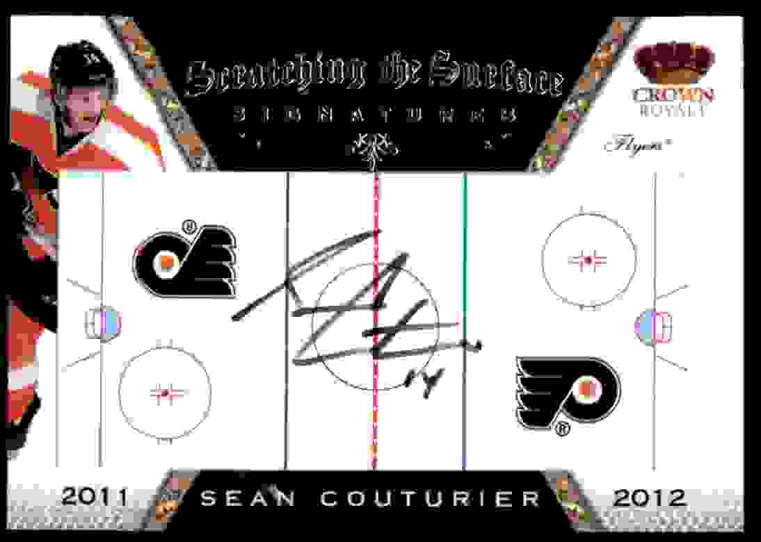 2011-12 Panini Crown Royale Scratching The Surface Sean Couturier #30 card front image