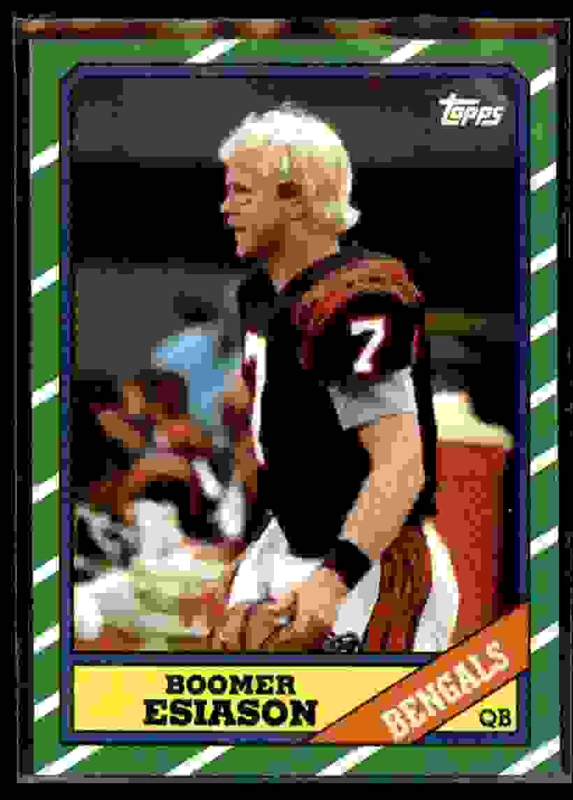 1986 Topps Boomer Esiason #255 card front image