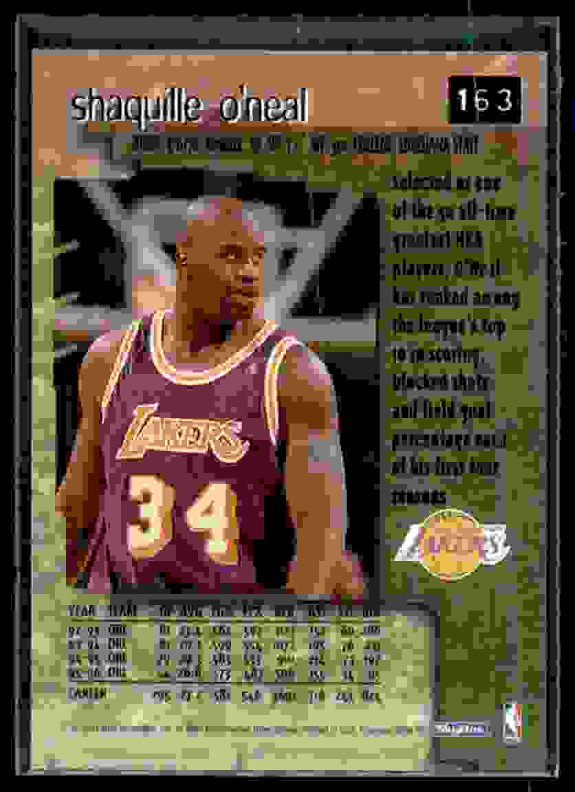 1996-97 Skybox Premium Shaquille O'Neal #163 card back image