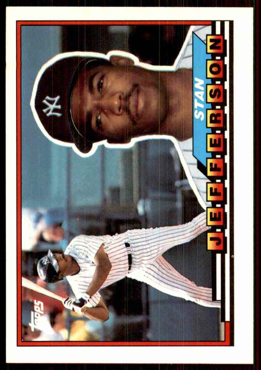 1989 Topps Big Stan Jefferson #165 card front image