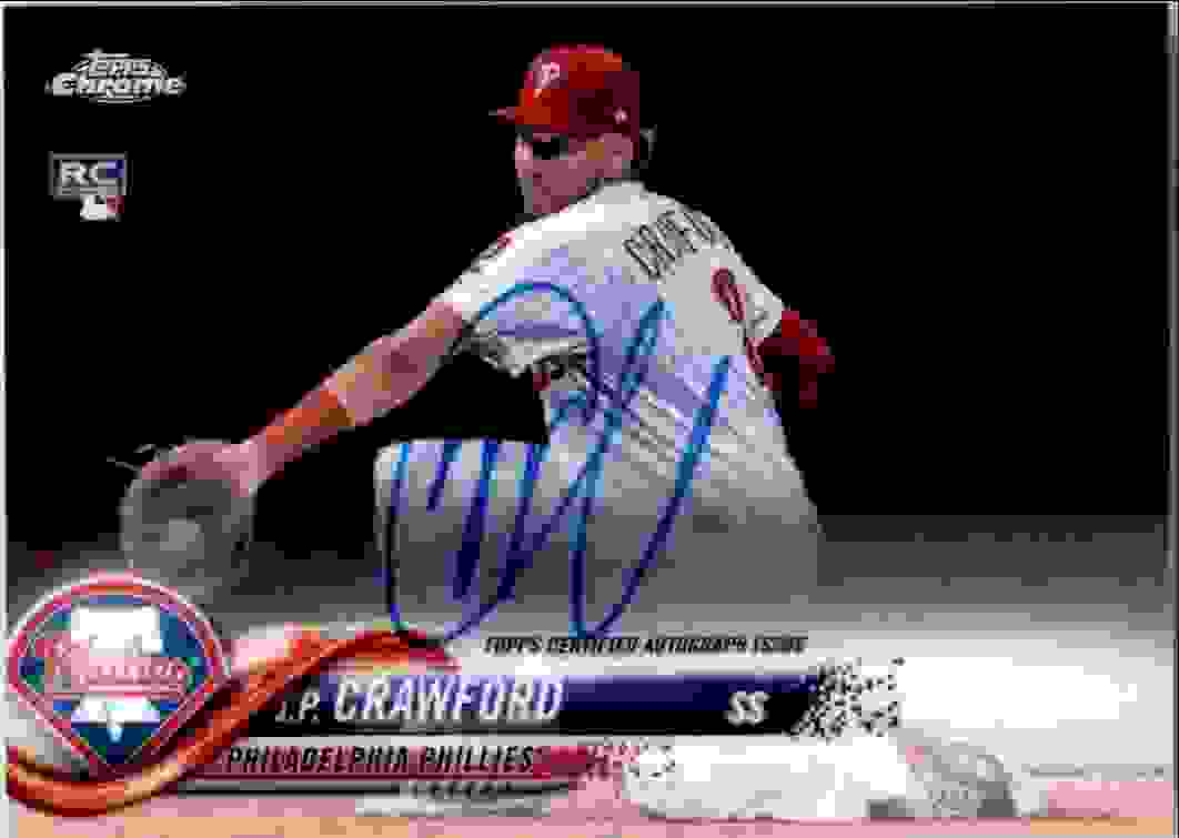 2018 Topps Chrome Base Autograph J.P. Crawford #RA-JC card front image