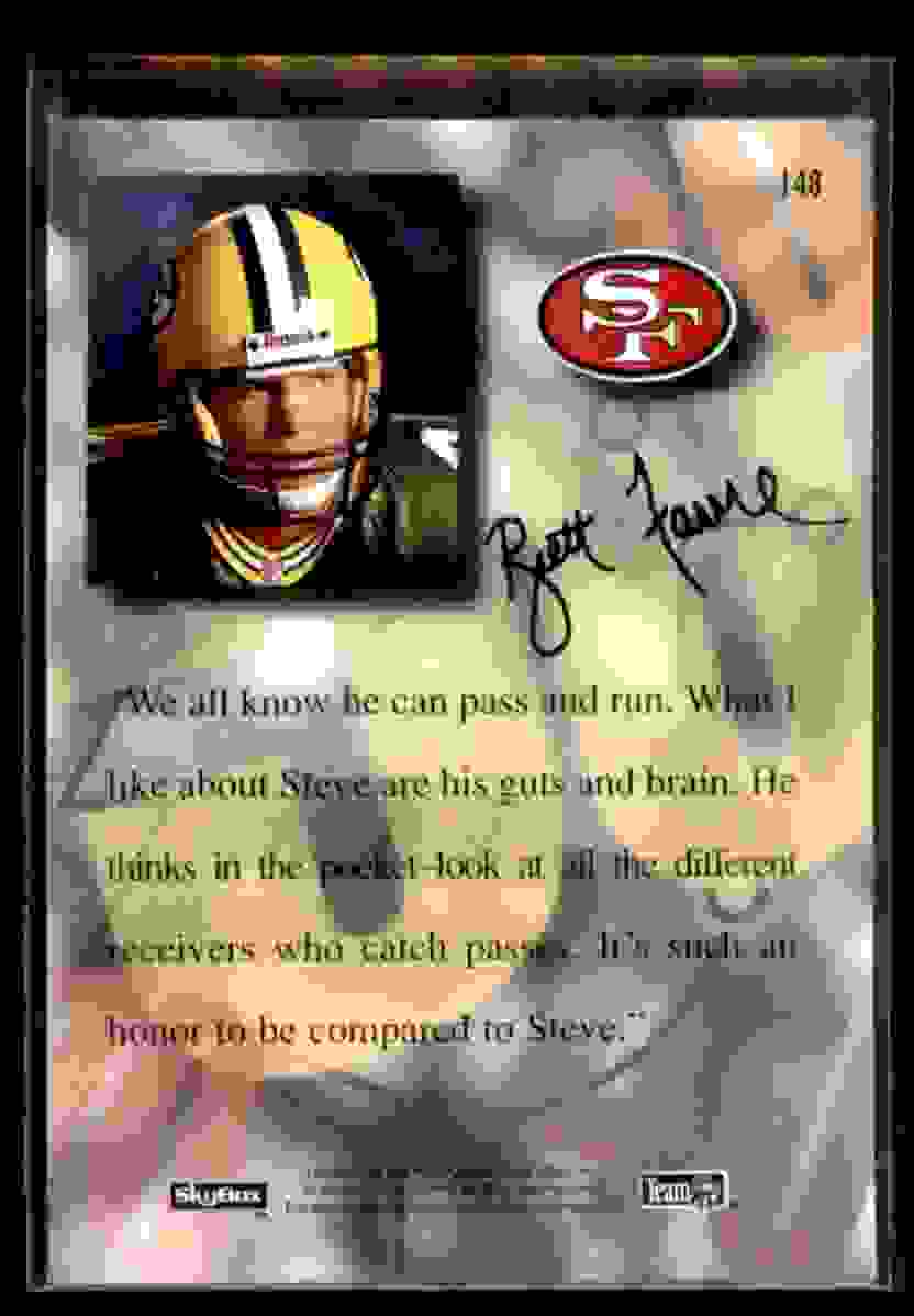 1995 Skybox Premium Steve Young #148 card back image