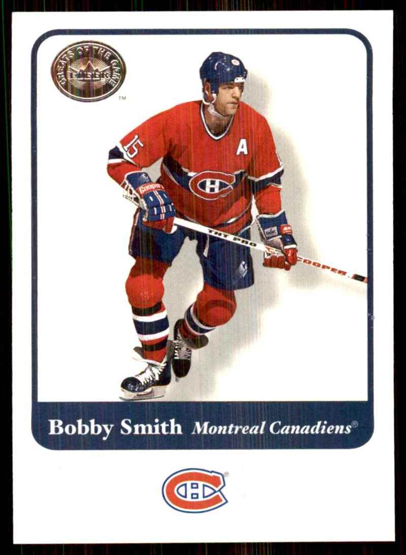 2001-02 Fleer Greats Of The Game Bobby Smith #50 card front image