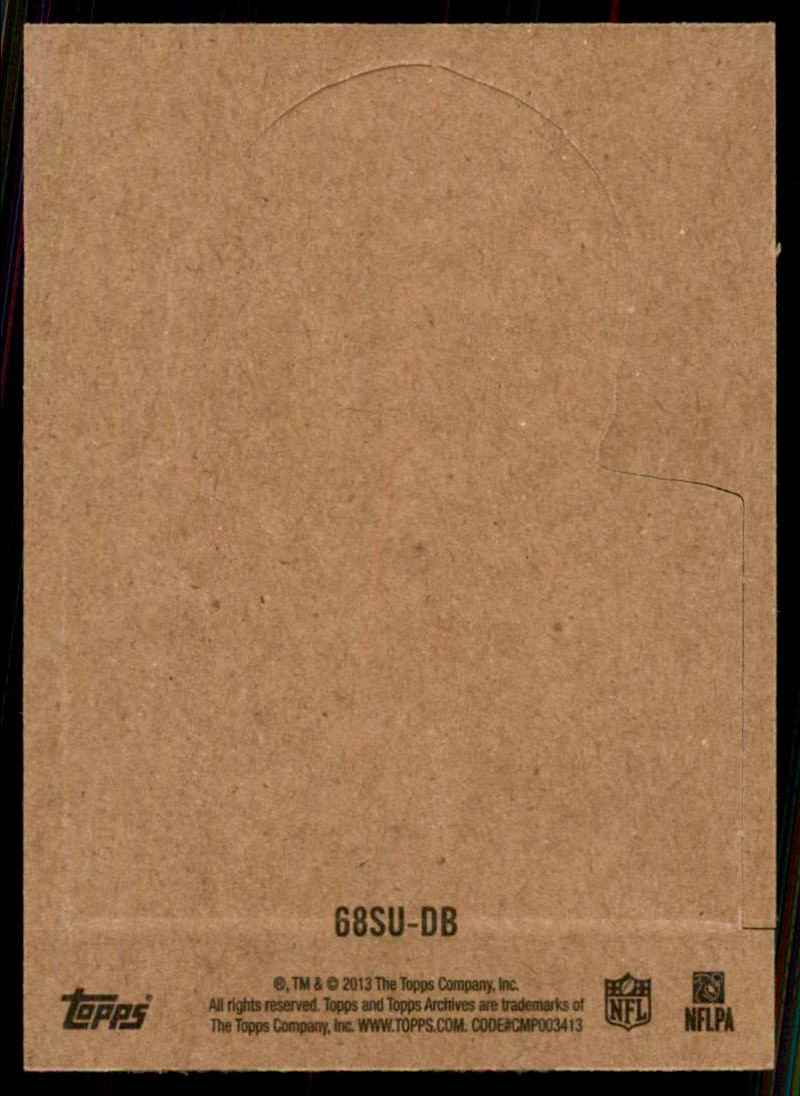 2013 Topps Archives Box Bottoms Drew Brees #DB card back image