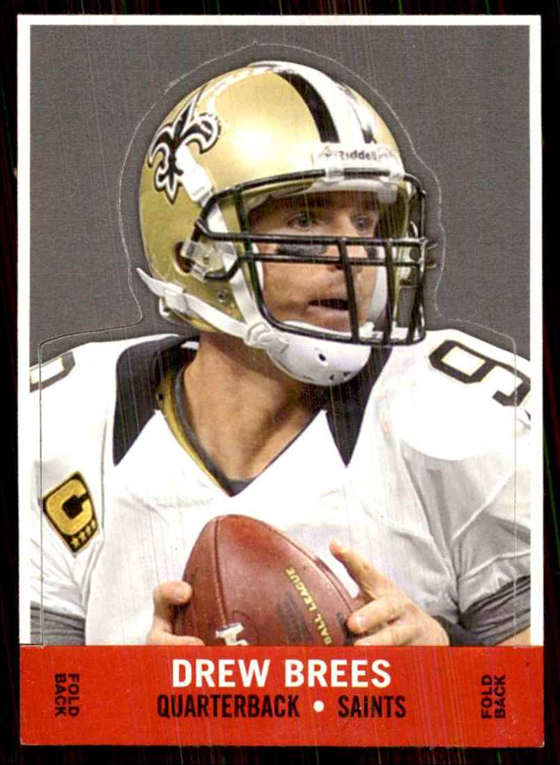 2013 Topps Archives Box Bottoms Drew Brees #DB card front image