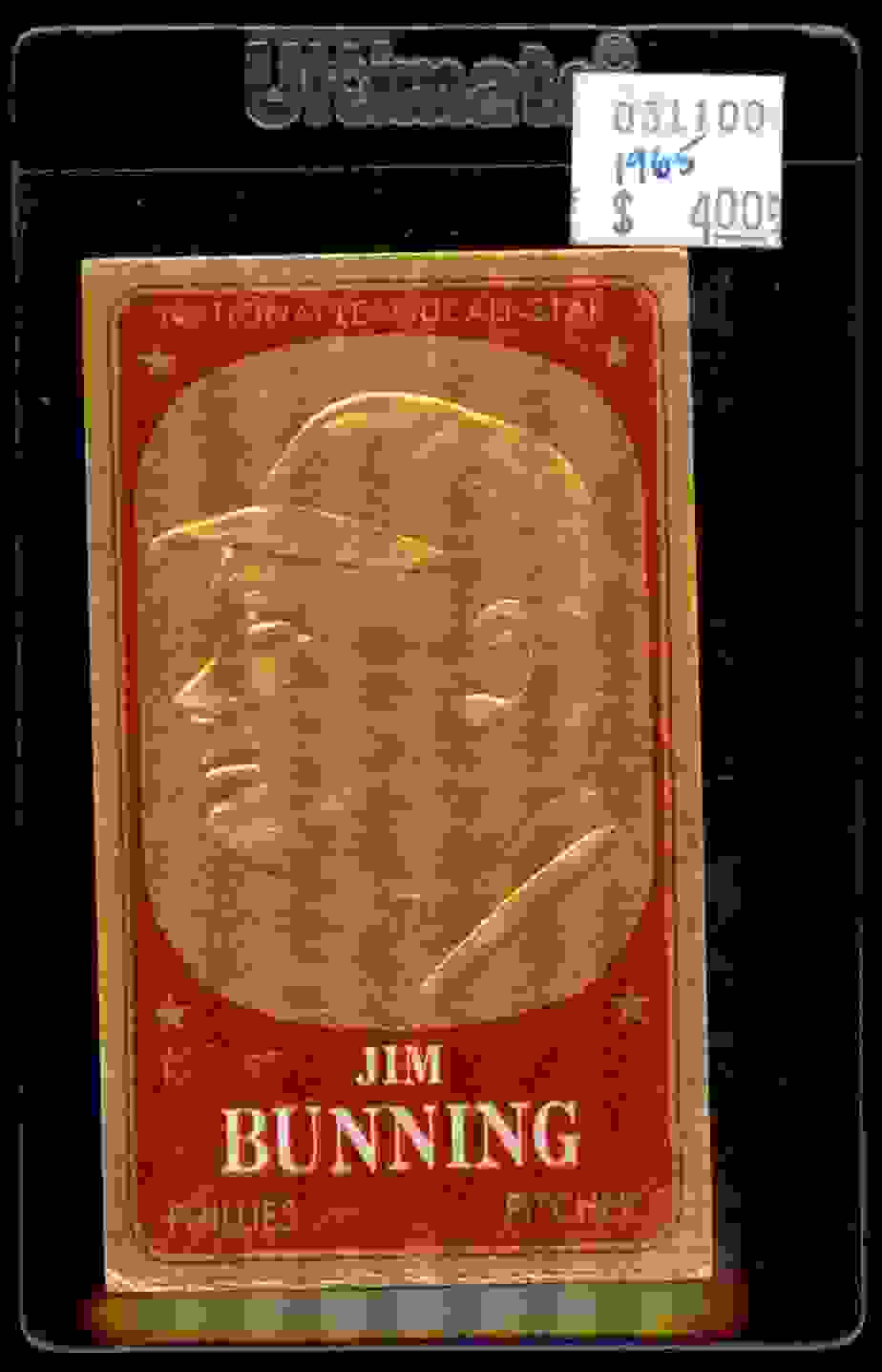 1965 Topps Embossed Jim Bunning #17 card front image
