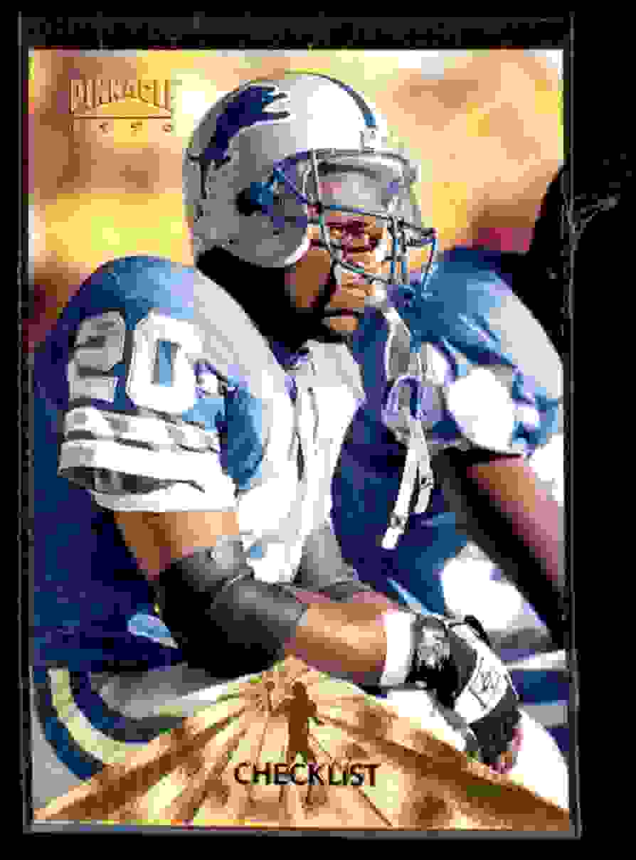 1996 Pinnacle Barry Sanders #198 card front image