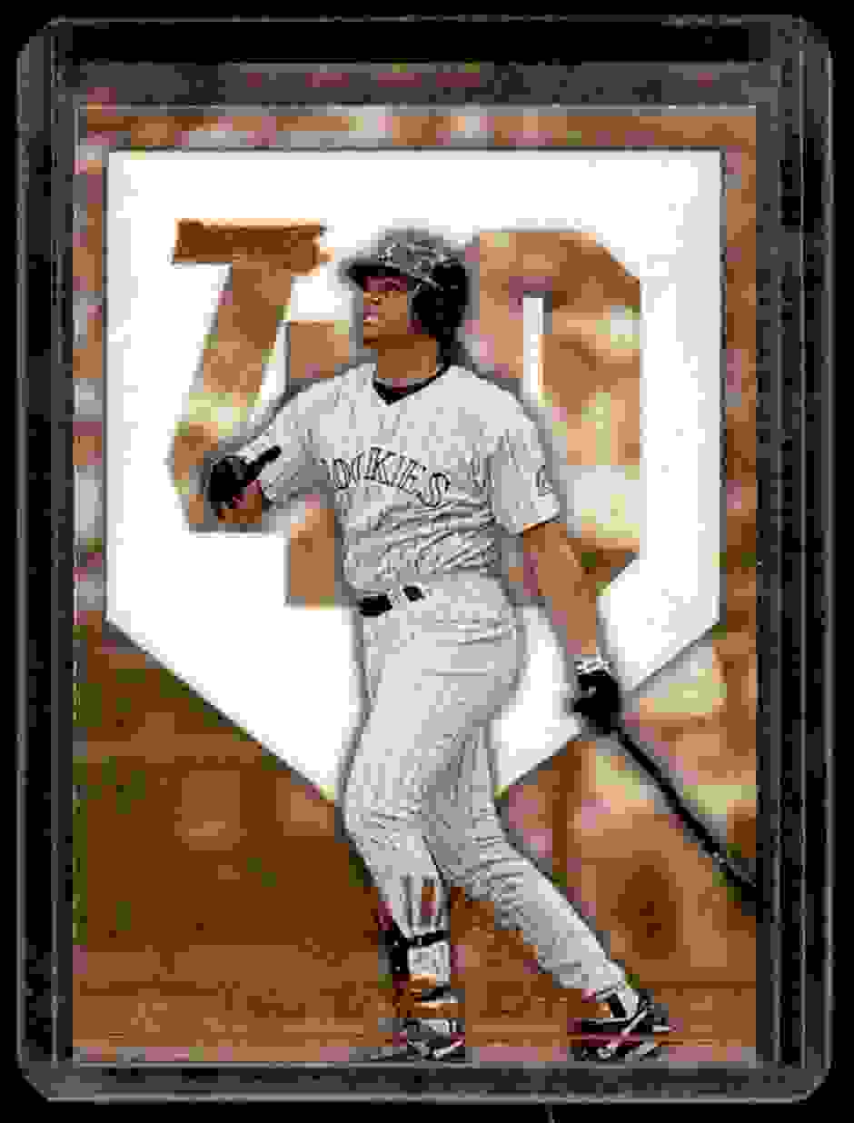 1996 Donruss Round Trippers Dante Bichette #10 card front image