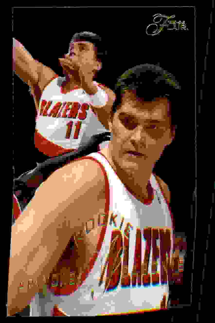 1995-96 Flair Arvydas Sabonis RC #217 card front image