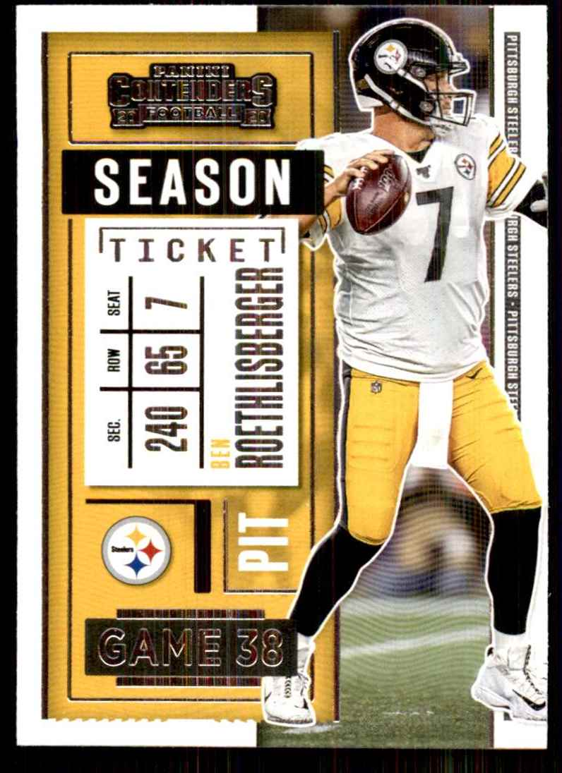 2020 Panini Contenders Ben Roethlisberger #16 card front image