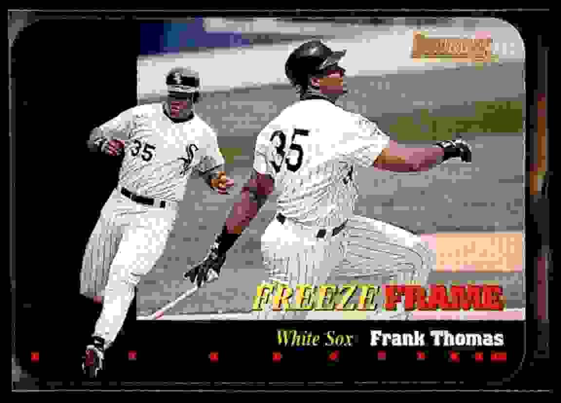 1996 Donruss Freeze Frame Frank Thomas #1 card front image