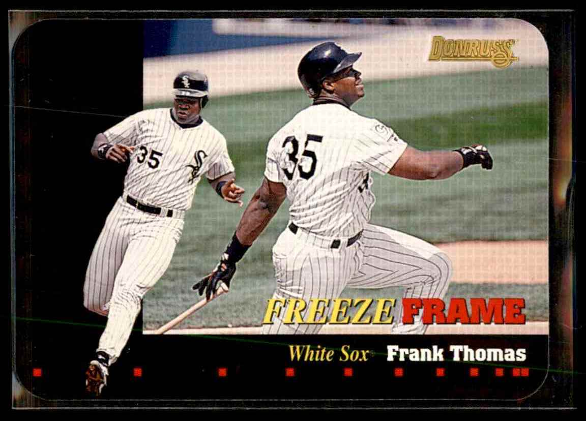 1996 Donruss Freeze Frame Frank Thomas #1 card front image