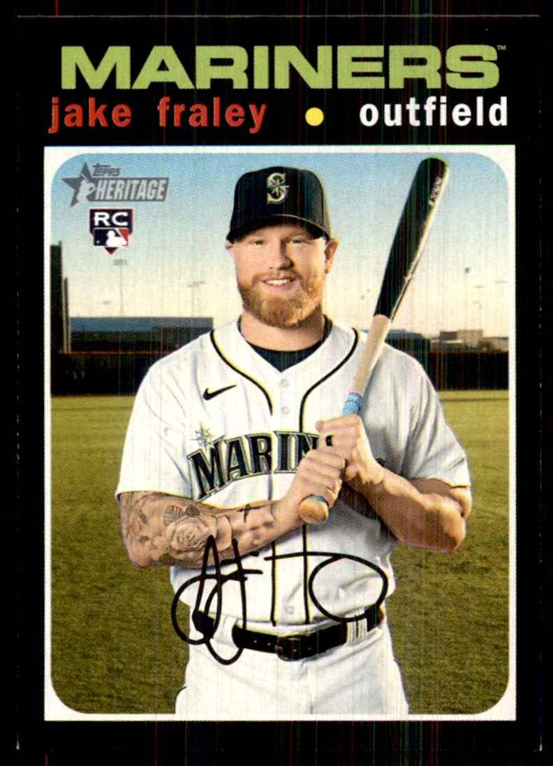 2020 Topps Heritage Jake Fraley RC #547 card front image