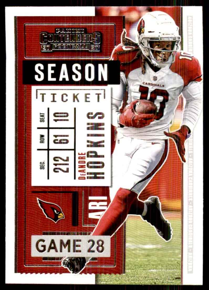 2020 Panini Contenders DeAndre Hopkins #100 card front image
