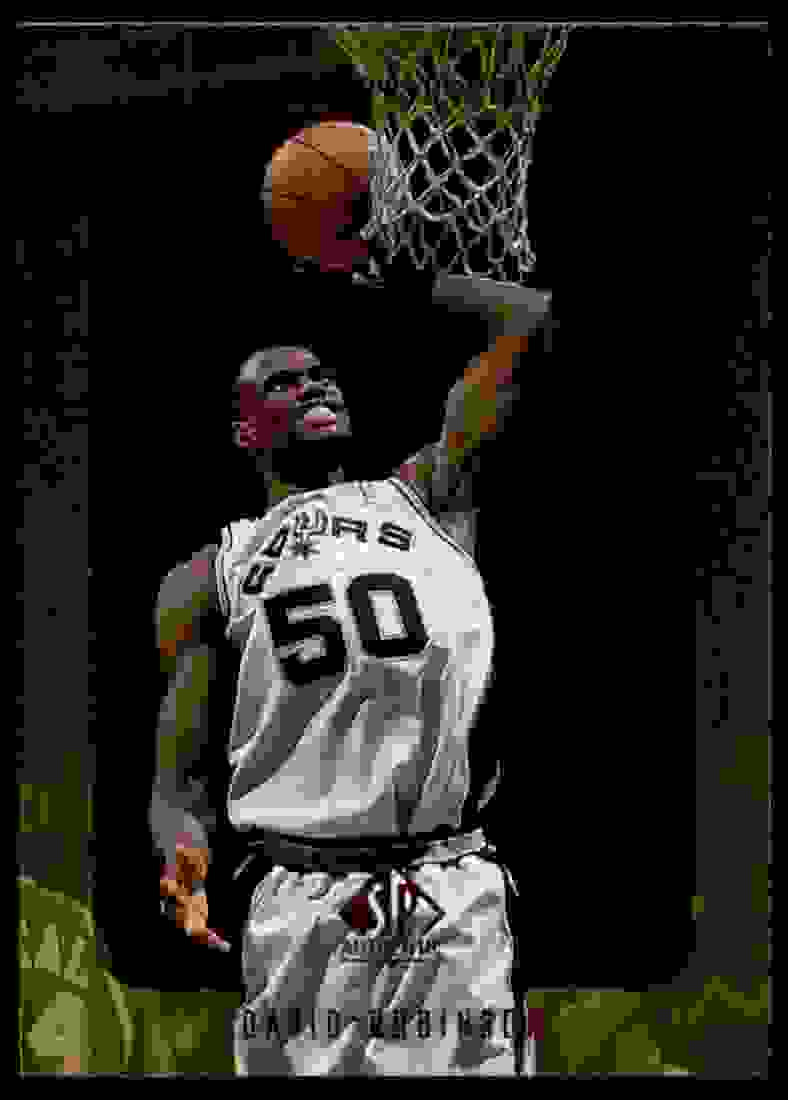 1997-98 SP Authentic David Robinson #127 card front image