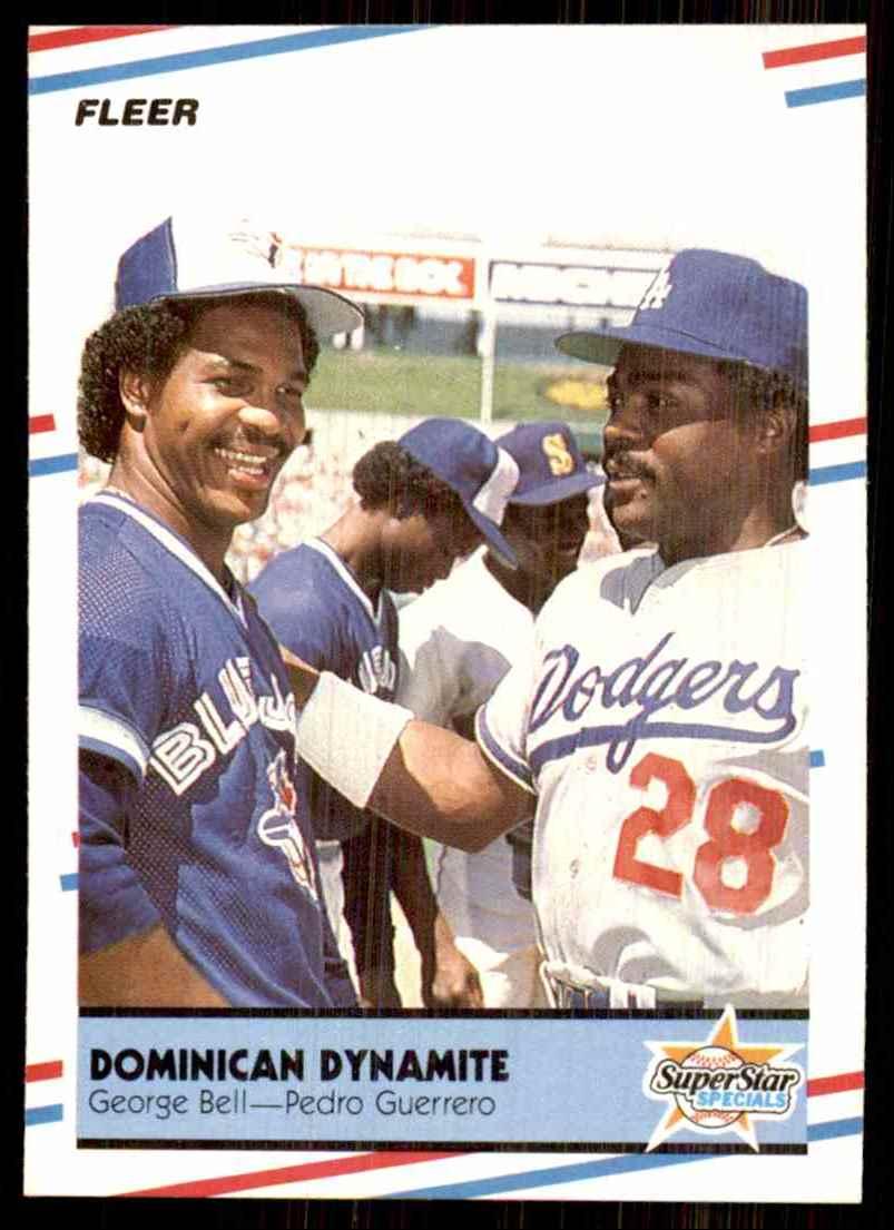 1988 Fleer George Bell/Pedro Guerrero #623 card front image