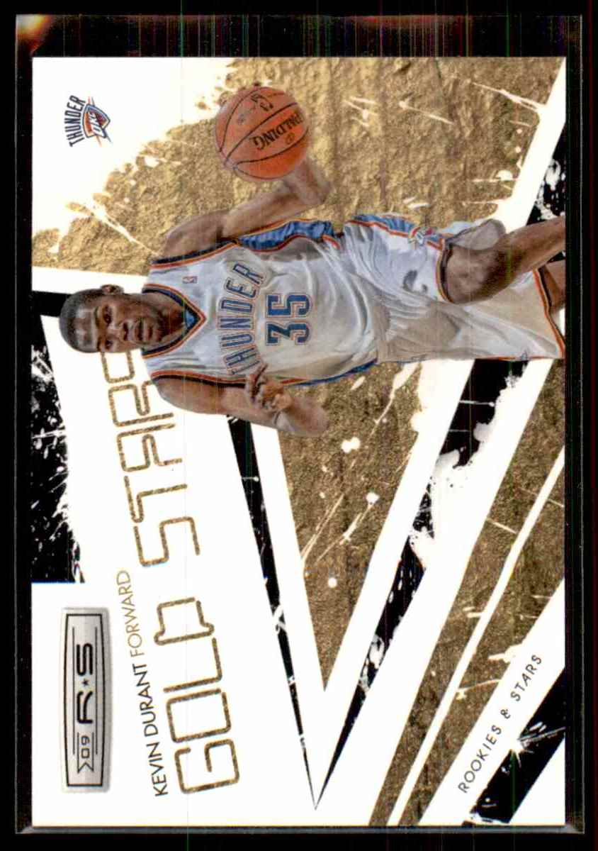 2009-10 Rookies And Stars Gold Stars Black Kevin Durant #6 card front image