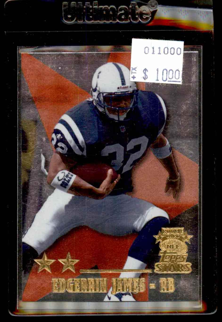 1999 Topps Stars Two Star Edgerrin James #8 card front image