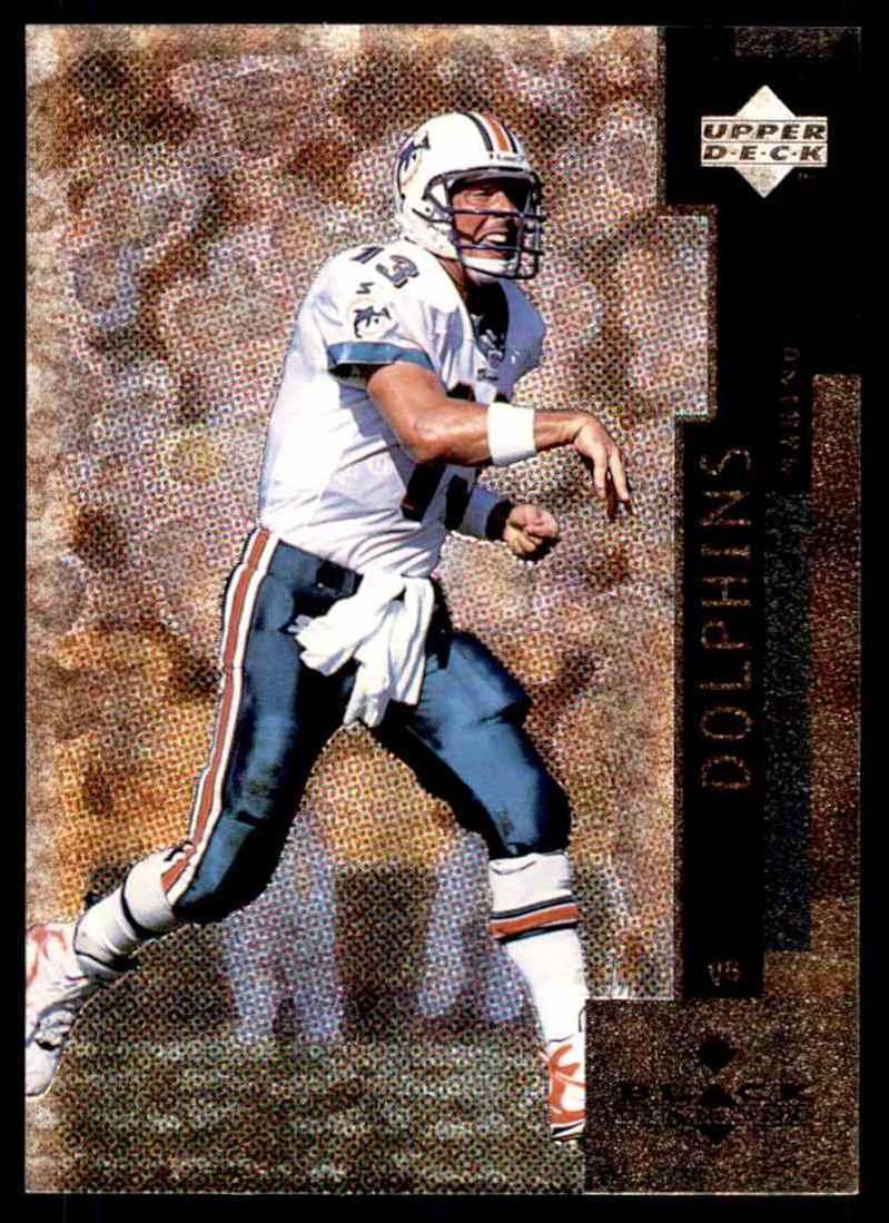 1998 Upper Deck Black Diamond Dan Marino #12 card front image