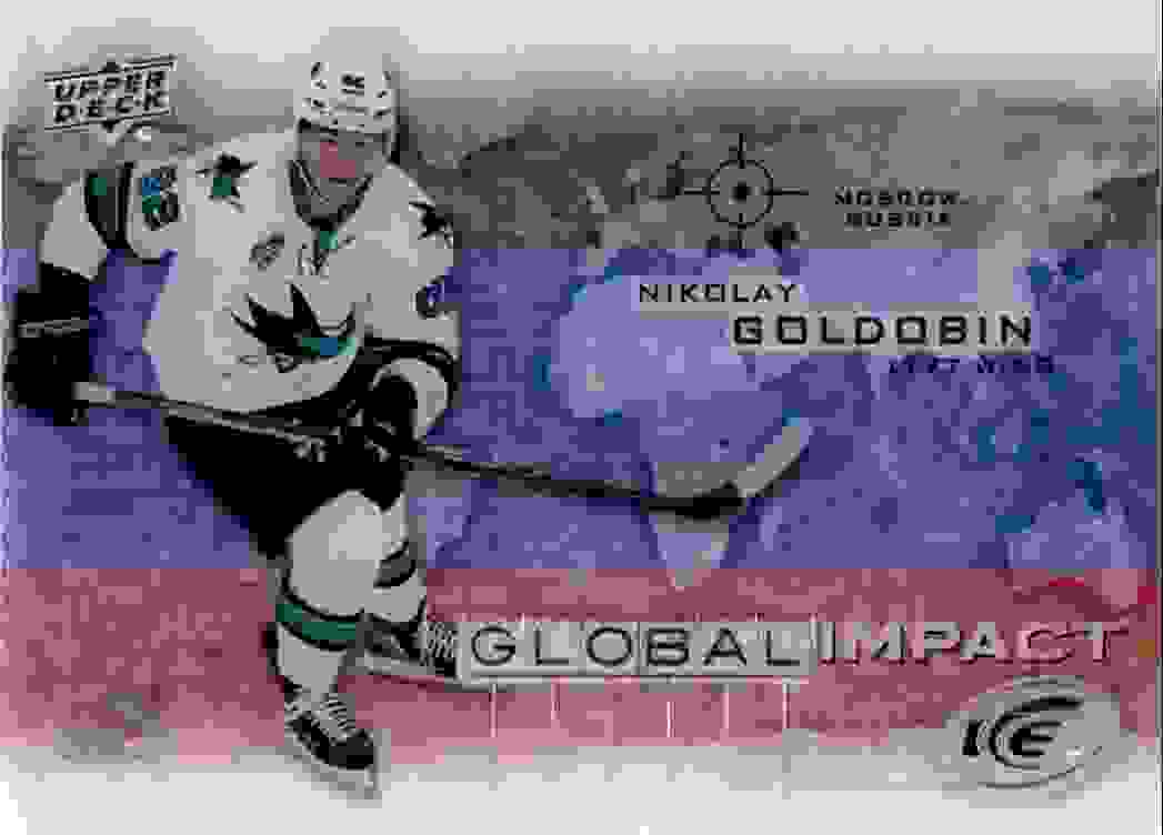 2015-16 Upper Deck Ice Global Impact Nikolay Goldobin #GI-NG card front image